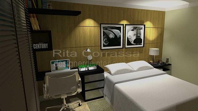Dormitório masculino para o homem solteiro