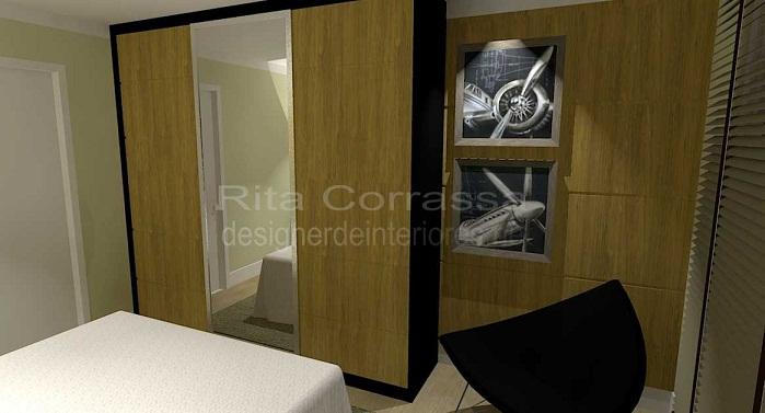 Dormitório masculino para o homem solteiro ~ Quarto Planejado Homem Solteiro