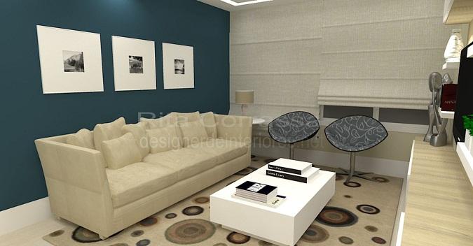 Sala De Estar Azul E Bege ~ dessa pequena sala de estar, a trabalhar com uma decoração azul