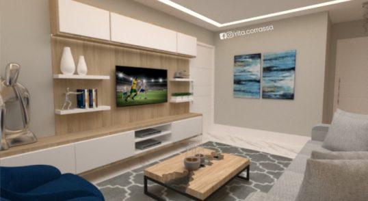 projeto online de sala moderna com decoracao azul e cinza (2)