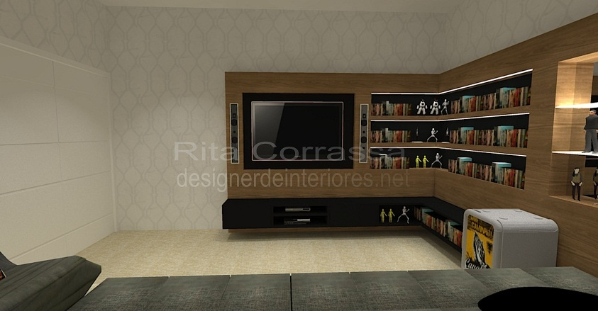Sala de estar archives rita corrassa - Sala home cinema ...