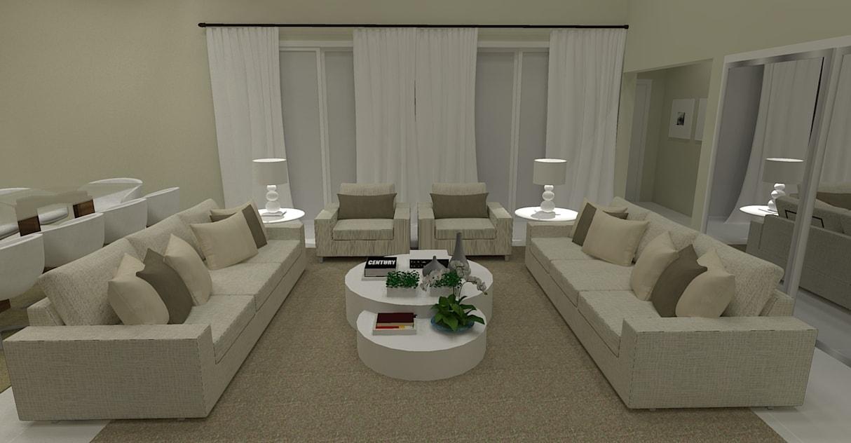 sala de estar de luxo neutra