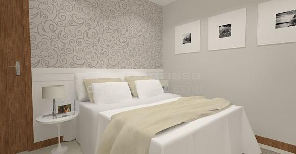 dormitorio de casal simples e moderno