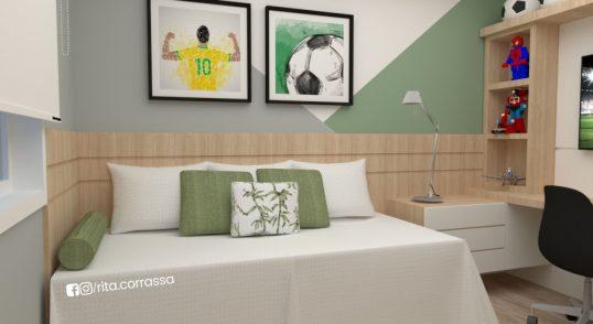 projeto online de quarto de menino decoracao futebol