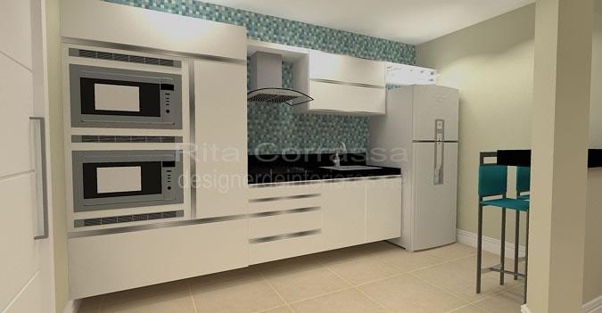 decoracao cozinha bege:03 COZINHA PEQUENA COM PASTILHAS DE VIDRO AZUL
