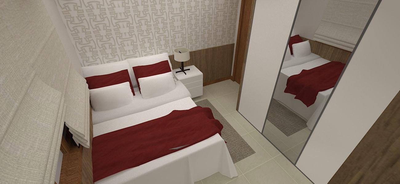 projeto de dormitorio pequeno para o casal