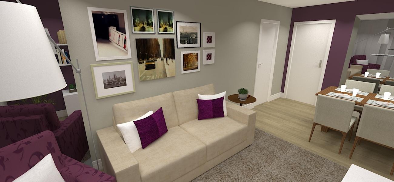 Ouco Vozes Na Sala De Estar ~ Projeto de sala de estar e jantar decorados