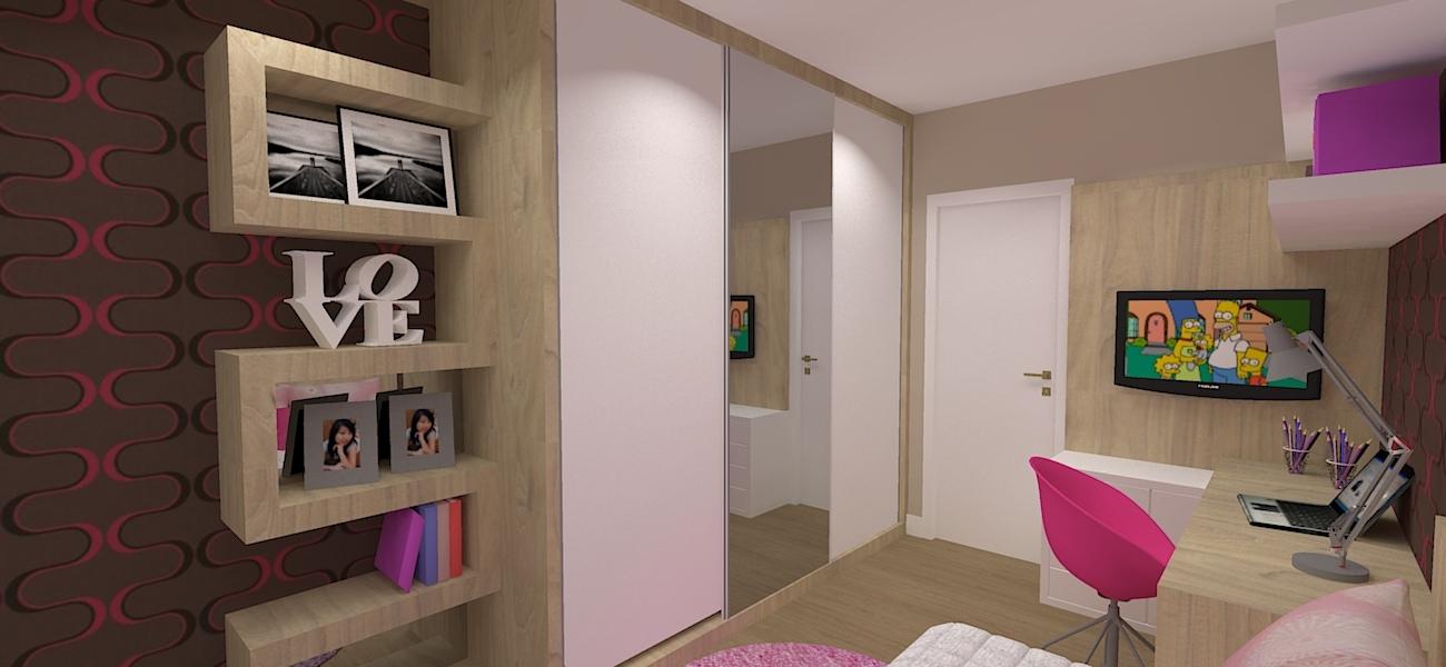 quarto de menina moderno e contemporaneo