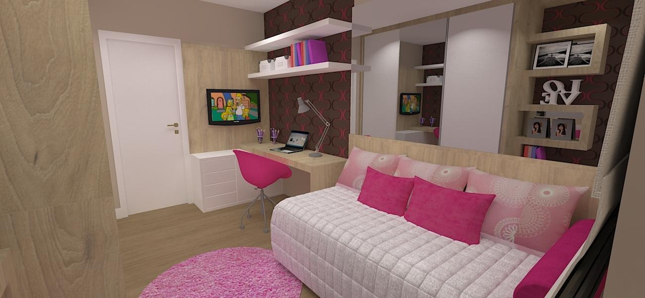 dormitorio com decoracao de menina moderna