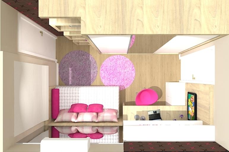 Dormitorio de menina planta baixa