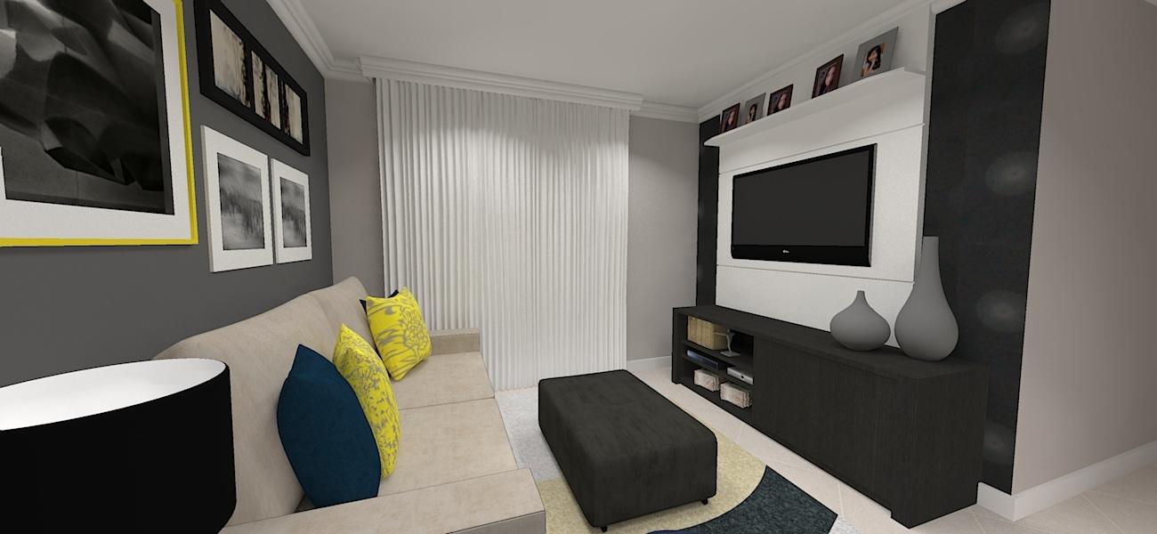 Projeto da sala de estar  e decoracao