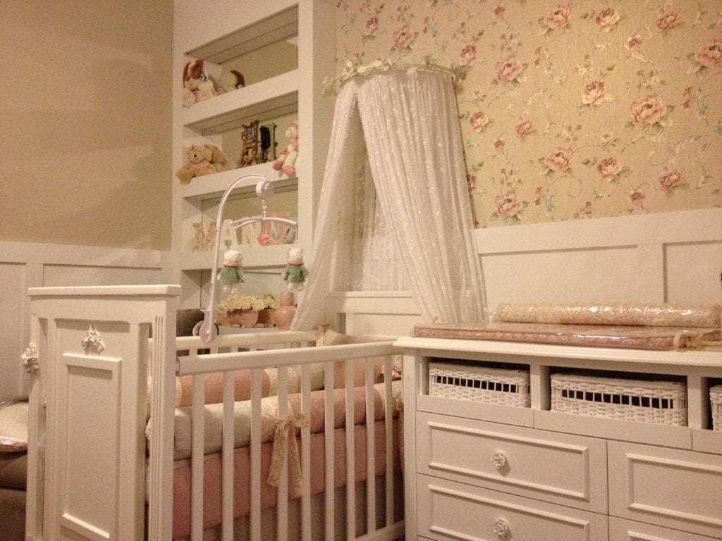 Dormitorio de bebe menina provencal
