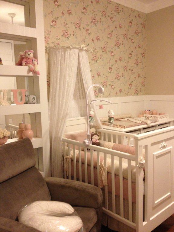 Quarto de bebê menina com detalhes provençais bege e rosa ~ Quarto Rosa Bege