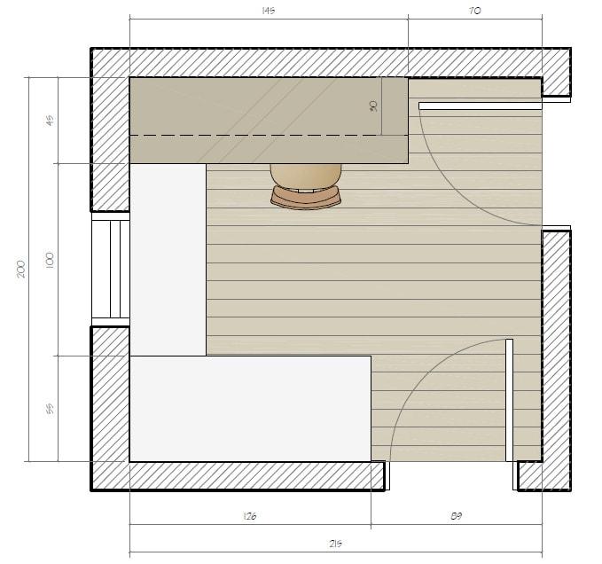 Projeto de escritorio pequeno sob medida designer de for Medidas ergonomicas de un escritorio