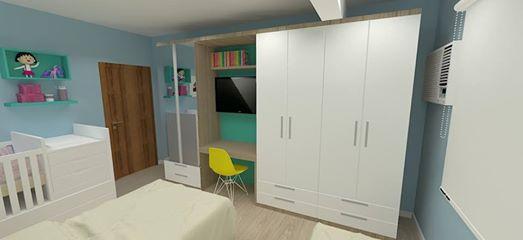 projeto de quarto infantil para 3 criancas