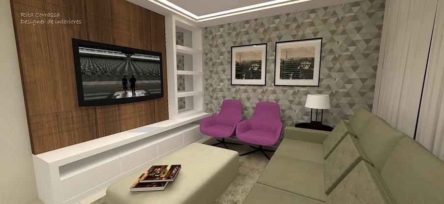 sala-de-tv-com-poltrona-roxa