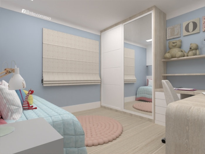 Decoracao de projeto online dormitorio de menina