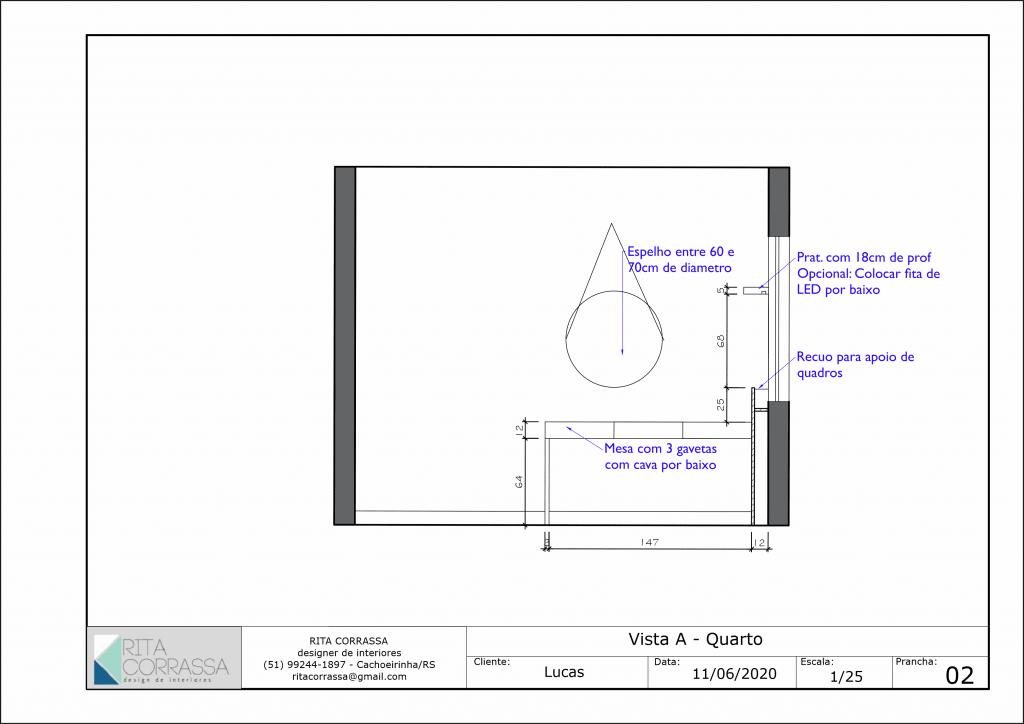 Modelo de detalhamento de móveis
